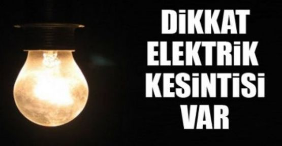 Ataşehir, Üsküdar, Kartal'da Elektrik Kesintisi