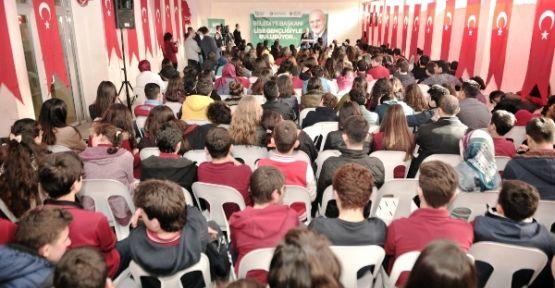 Başkan Çelikbilek Liseli Gençlerle Buluştu