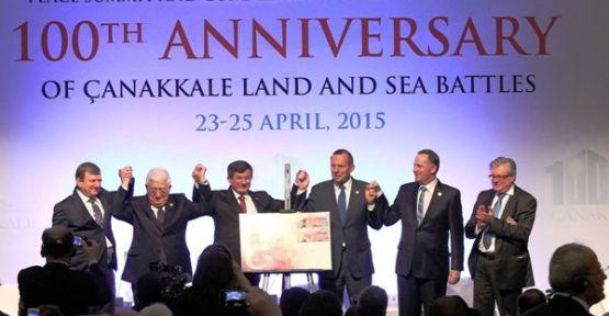 Çanakkale Kara Savaşları'nın 100. Yıldönümü Anma Törenleri Barış Zirvesi ile Başladı