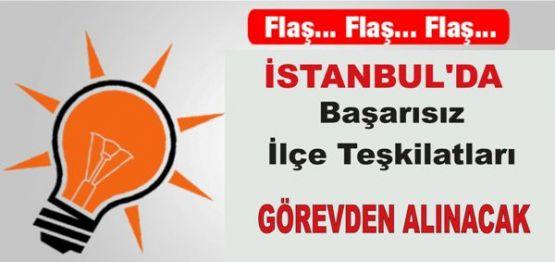 İstanbul'da Başarısız İlçe Teşkilatları Görevden Alınacak