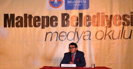 Maltepe'de Medya Okulu Emre Tilev'i ağırladı