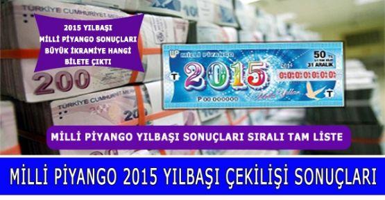 Milli piyango 2015 özel çekilişinin tam listesi