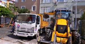 Maltepe Belediyesinden duvarı çöken...