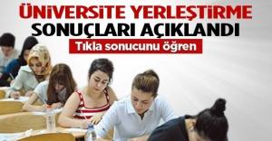 Üniversitelere yerleştirme sonuçları açıklandı.