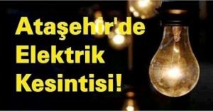 Ataşehir#039;de Elektrik Kesintisi!