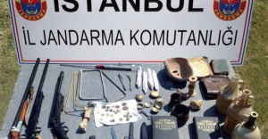 Tarihi Eser Kaçakcısına Jandarma Baskını
