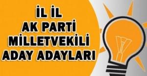AK Parti Milletvekili Adayları İl İl Tamlistesi