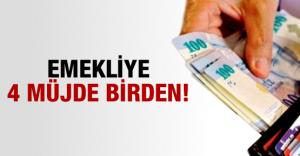 Başbakan Davutoğlu'ndan Emekliye 4 müjde