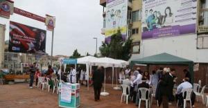 Maltepe Meydanında sağlık taraması