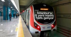 İstanbul#039;a 8 yeni metro hattı...