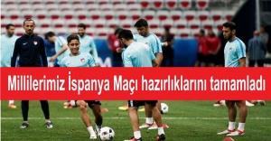 A Milli Takım İspanya Maçı hazırlıklarını tamamladı