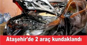 Ataşehir'de 2 araç kundaklandı