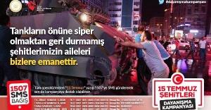15 Temmuz Dayanışma Kampanyası'na destek çağrısı