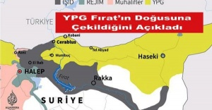 ABD, YPG, Fırat'ın Doğusuna Çekildiğini Açıkladı