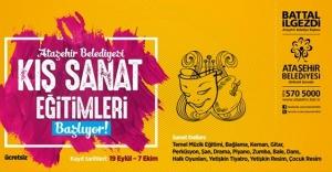 Ataşehir'de Kış Sanat Okulları başlıyor