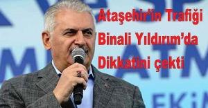 Ataşehir'in Trafiği  Binali Yıldırım'da dikkatini çekti