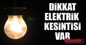 İstanbul#039;da 5 ilçede elektrik...