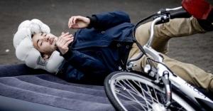 Bisiklet kullananlar için hava yastığı