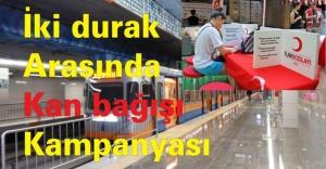Kızılay'dan iki durak arasında kan bağışı kampanyası
