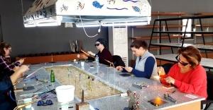 Riva Cam Sanat Merkezi'nde Cam Kursları Başladı