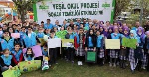 Beykoz'da Yeşil Okul Öğrencilerinden Çevre Seferberliği