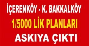 ATAŞEHİRDE İKİ MAHALLENİN 1/5000 PLANLARI ASKIYA ÇIKTI