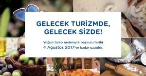Gelecek Turizmde başvuru süresi 4 Ağustos'a kadar uzatıldı!