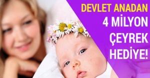 2 milyon 439 bin bebek için 1 milyar liralık ödeme gerçekleştirdi.