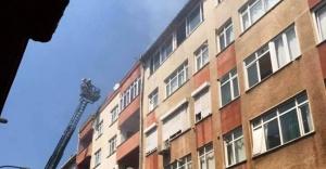 Ataşehir'de Korutan çatı katı yangını