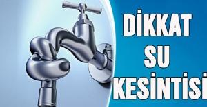 İstanbulda büyük su kesintisi!