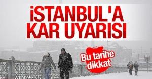 İstanbul#039;a kar geliyor!