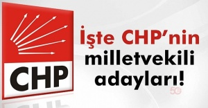 CHP Milletvekili Aday Listesi