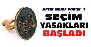 YSK'nın seçim yasakları Resmi Gazete'de yayımlandı.