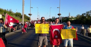 15 Temmuz Şehitler Köprüsü'nde insan seli