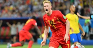 Brezilya elendi, Belçika yarı finalde: 1-2