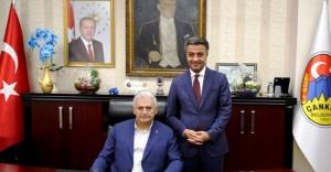 """TBMM Başkanı Yıldırım'dan """"Kanal Çankırı"""" Projesine Destek Sözü"""