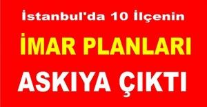 İstanbul'da 10 ilçenin imar planları askıya çıktı