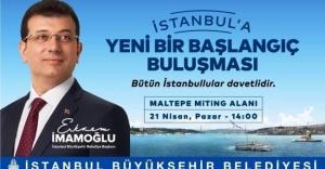 Ekrem İmamoğlu İstanbullularla Maltepe'de buluşuyor