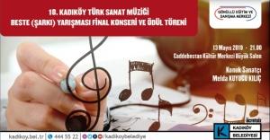 18. Kadıköy Türk Sanat Müziği Beste yarışmasında ödüller sahiplerini buluyor.