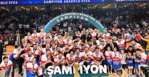 Basketbol Süper Ligi'nde şampiyon Anadolu Efes