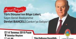MHP Lideri Devlet Bahçeli Çankırılılarla Buluşacak