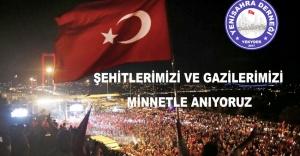 ŞEHİT VE GAZİLERİMİZİ MİNNETLE...