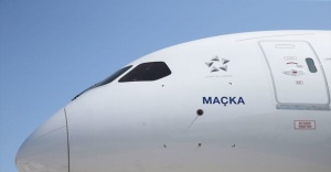 THY'nin 'rüya uçağı' Trabzon'da