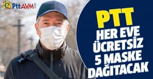 PTT ücretsiz maske dağıtacak