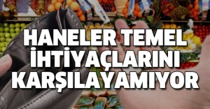 HANELER TEMEL İHTİYAÇLARINI KARŞILAYAMIYOR