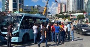 Ataşehir'de minibüs hattı kavgası