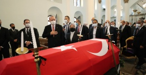 Cumhurbaşkanı Erdoğan Markar Esayan'ın cenaze törenine katıldı