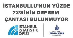 İSTANBULLU'NUN YÜZDE 72'SİNİN DEPREM ÇANTASI BULUNMUYOR