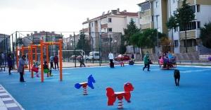 Sabahattin Ali Parkı çocuk sesiyle şenlendi