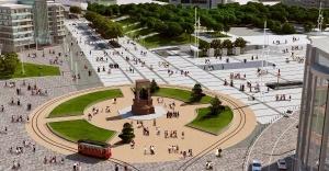 Taksim Meydanı çevre düzenlemesi çalışmaları devam ediyor